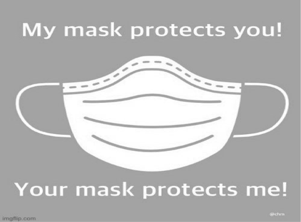 My Mask Protects You! Your Mask Protects Me!